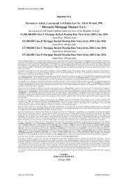 Mercurio Mortgage Finance S.r.l. - Irish Stock Exchange