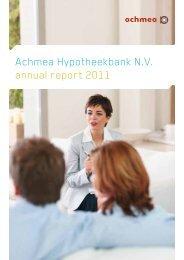 Achmea Hypotheekbank N.V. annual report 2011