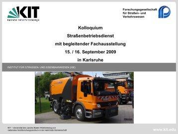 Programm und Rückblick - Institut für Straßen- und Eisenbahnwesen ...