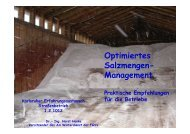 Optimiertes Salzmengen-Management - Praktische Empfehlungen ...