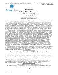 Ardagh Glass Finance plc - Irish Stock Exchange