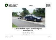 Strukturbewertung zur Beurteilung der Restsubstanz - Institut für ...