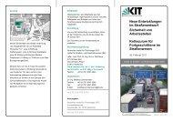 zum Programm - Institut für Straßen- und Eisenbahnwesen - KIT