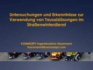 Untersuchungen und Erkenntnisse zur Verwendung von ...