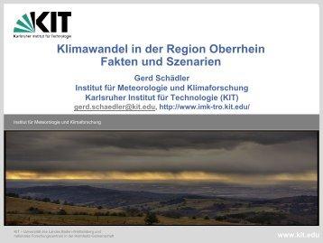 Klimawandel in der Region Oberrhein, Fakten und Szenarien