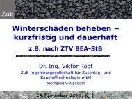 Winterschäden beheben - kurzfristig und dauerhaft, z.B. nach ... - KIT
