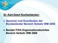 Fussballweltmeisterschaft 2006 - Verkehrliche Anforderungen