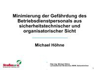 Minimierung der Gefährdung des Betriebsdienstpersonals aus ...