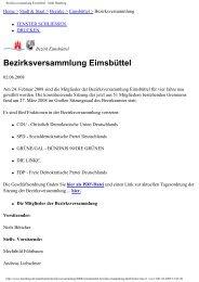 Bezirksversammlung Eimsbüttel - Stadt Hamburg - Isebek-Initiative