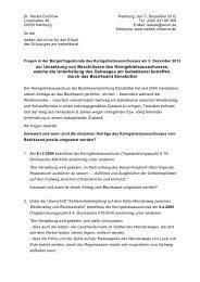 Zur Nichtumsetzung von Beschlüssen des ... - Isebek-Initiative