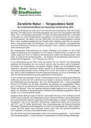 Zerstörte Natur - vergeudetes Geld: Die ... - Isebek-Initiative
