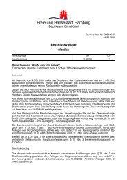 Beschlussvorlage und Auszug aus der ... - Isebek-Initiative