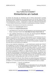 Klinkertürme am Isebek - Isebek-Initiative