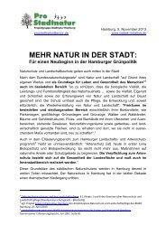 MEHR NATUR IN DER STADT: Für einen ... - Isebek-Initiative