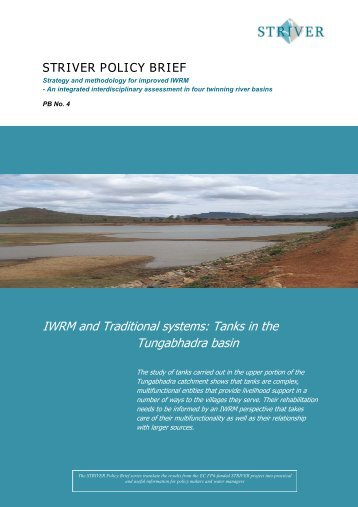 IWRM and Traditional systems: Tanks in the Tungabhadra basin - Niva