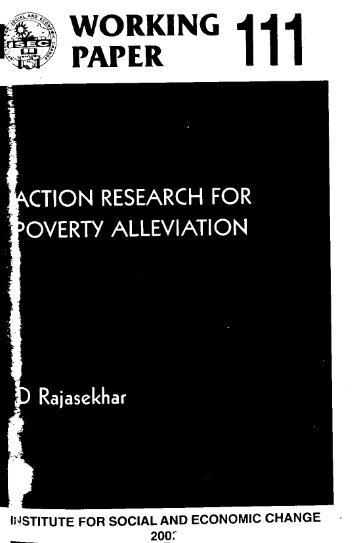 working paper 111 - Institute for Social and Economic Change