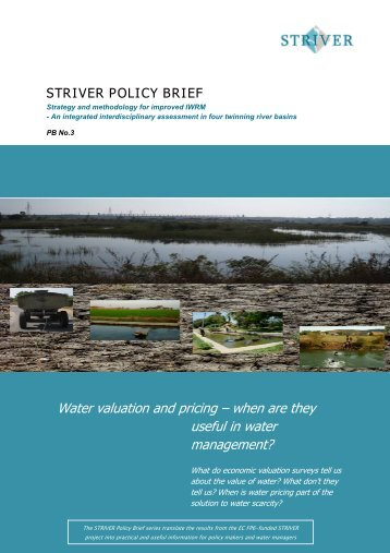 Water valuation and pricing – when are they useful in water ...