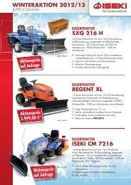 Flyer Winteraktion 2012/13 - Iseki