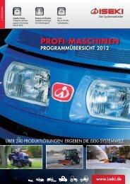 A-Programmübersicht 2012 - Iseki