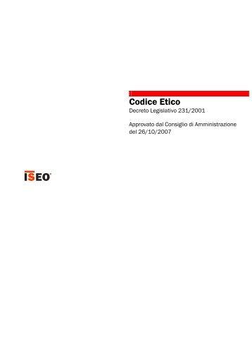 Scarica codice etico - Iseo Serrature spa