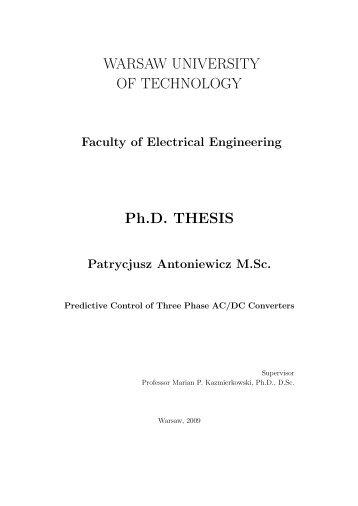 Predictive Control of Three Phase AC/DC Converters