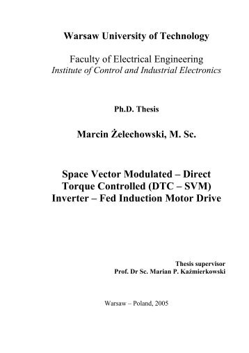 Space Vector Modulated – Direct Torque Controlled (DTC – SVM ...