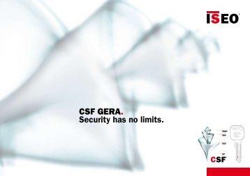 CSF GERA. Security has no limits. - Iseo Serrature spa