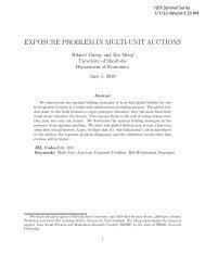 EXPOSURE PROBLEM IN MULTI-UNIT AUCTIONS