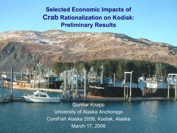 Crab Rationalization on Kodiak - Institute of Social and Economic ...