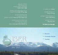 ISER Brochure - Institute of Social and Economic Research ...