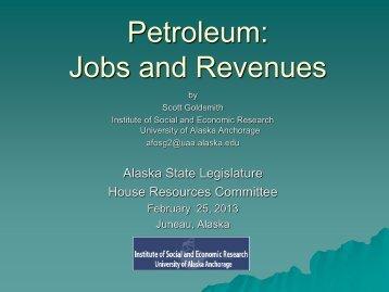 Petroleum: Jobs and Revenues - Institute of Social and Economic ...