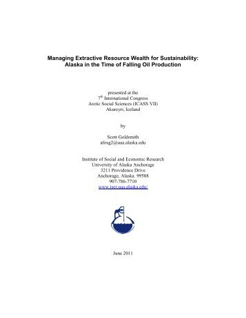 Managing Extractive Resource Wealth for Sustainability - Institute of ...