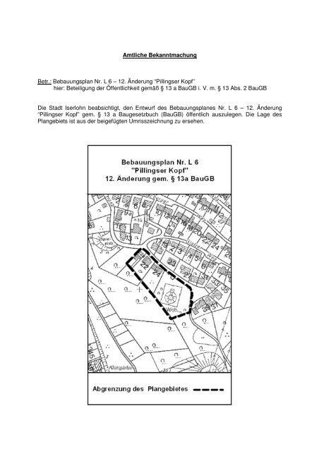 AB-B-Plan L 6-Offenlage-12. Änd-Internet - Iserlohn