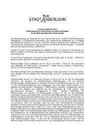 Kommunalwahlen 2014 Aufforderung zur Einreichung von ... - Iserlohn