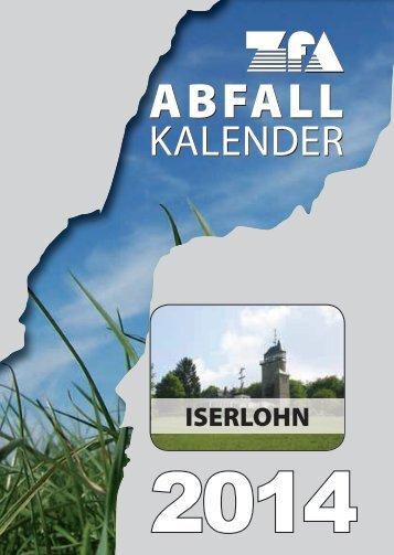Abfallkalender 2014 - Iserlohn