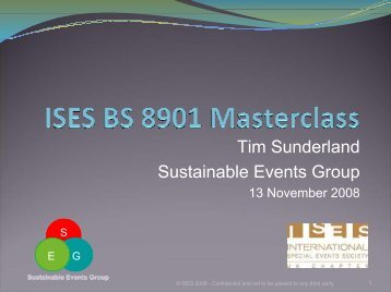 To view the presentation following this event please click here. - ISES