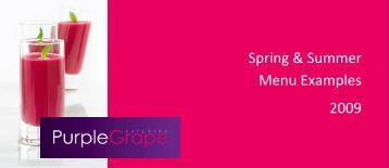 Spring & Summer Menu Examples 2009 - ISES