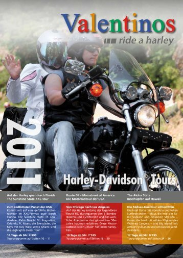 Valentinos Katalog 2011 - Harley-Davidson Tours