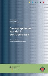 Demographischer Wandel in der Arbeitswelt - ISF München