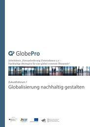 """Zukunftsforum 1 """"Globalisierung nachhaltig gestalten"""" - GlobePro"""