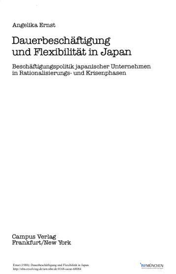 Dauerbeschäftigung und Flexibilität in Japan ... - SSOAR
