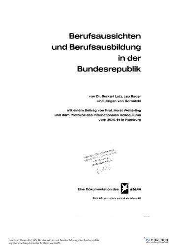 Berufsaussichten und Berufsausbildung in der ... - ISF München
