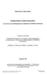 Kleinbetriebliche Zulieferkooperation - ISF München