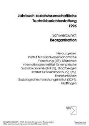 Jahrbuch sozialwissenschaftliche ... - ISF München