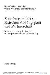 Zulieferer im Netz Neustrukturierung der Logistik am ... - ISF München