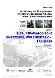 Band C: Berufspädagogische Umsetzung ... - ISF München