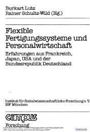 Flexible Fertigungssysteme und Personalwirtschaft - SSOAR
