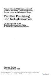 Flexible Fertigung und Industriearbeit - ISF München