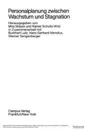 Personalplanung zwischen Wachstum und Stagnation - ISF München
