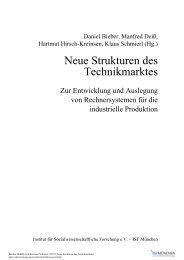 Neue Strukturen des Technikmarktes (600 KB) - ISF München